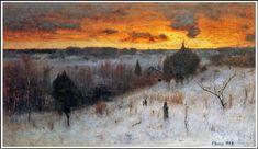 George Inness (1825-1894), Winter Evening.