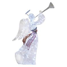 Holiday Living 48 In Twinkling Glittered Angel Outdoor Christmas Decoration