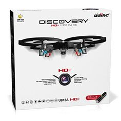 UDI 818A HD+ RC Quadcopter Drone with HD Camera, Return Home Function and Headless Mode- 2.4GHz 4 CH 6 Axis Gyro RTF – Includes BONUS BATTERY + POWER BANK Quadruples Flying Time