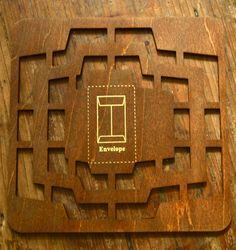 Retro Antique Zakka Style Multi Sizes  Wood Envelope Template- 4 Sizes of Rectangle Envelopes