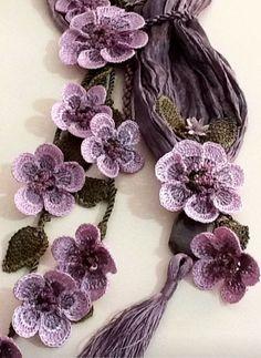 Recent 56 Crochet Needlework Models - Ideas & Thoughts Thread Crochet, Crochet Scarves, Crochet Crafts, Crochet Projects, Knit Crochet, Crochet Flower Patterns, Baby Knitting Patterns, Crochet Designs, Crochet Flowers