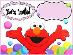 elmo invitations template