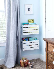Low-Cost Library Related posts:Best Charming Kid's Room Decor Ideas www.Black and White Modern Kids Room - Bright Green DoorLincoln's Big Boy Room - J & J Design Group Kids Storage, Wall Storage, Storage Units, Storage Solutions, Storage Crates, Book Storage Kids, Playroom Storage, Storage Design, Creative Toy Storage