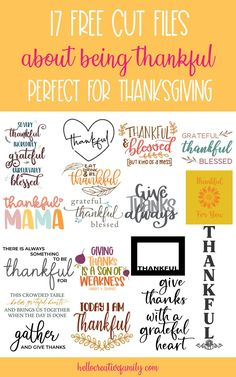We're sharing 17 free cut files that are all about being thankful including a Thankful Mama SVG File! Perfect for Thanksgiving or anytime you want to show a bit of gratitude! These cut files can be used for crafting with your Cricut Maker, Cricut Explore, Cricut Joy or Silhouette Cameo! #Thankful #ThankfulMama #CutFile #SVG #FreeSVG #Thanksgiving #CricutCrafts #Handmade #mom #momlife Modge Podge Projects, Thanksgiving Diy, Independent School, Morning Affirmations, Feeling Overwhelmed, Crafts For Teens, Helping Others, Fun Projects, Cutting Files