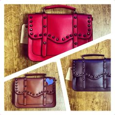 Trendy  studded satchels. New for AW13
