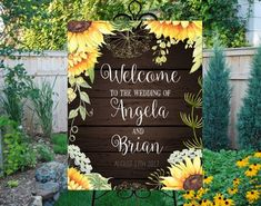 Welcome wedding sign printable. Sunflowers and wood digital welcome sign.Personalized custom rusti - Brooklyn Baby Name - Ideas of Brooklyn Baby Name - Welcome wedding sign printable. Sunflowers and wood digital welcome sign. Rose Wedding, Fall Wedding, Rustic Wedding, Wedding Flowers, Dream Wedding, Wedding Ideas, Wedding Reception, Wedding Arbors, Wedding Themes