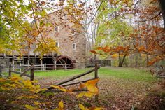 The Cooper Gristmill, built in 1826 and offering tours every fall weekend through October 26.