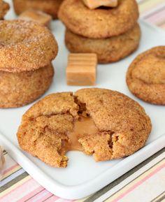 Favorite #Fall #Desserts: #Caramel Stuffed #Pumpkin #Cookies