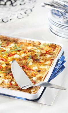 Broileripiirakka   Maku Quiche Lorraine, Hawaiian Pizza, Vegetable Pizza, Feta, Macaroni And Cheese, Good Food, Food And Drink, Favorite Recipes, Cooking