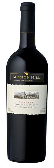 Mission Hill Reserve Cabernet Sauvignon 2010. A densely packed nose featuring cocoa, black cherry, tobacco and lavender. The palate is marked by red currants, coupled with classic notes of cedar, oak spice and wild herbs.