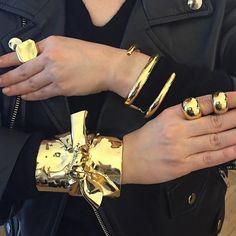 Sneak peek at @jfisherjewelry fall collection #pfw - @jenniferanngach