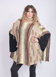 Hand-Knit Poncho