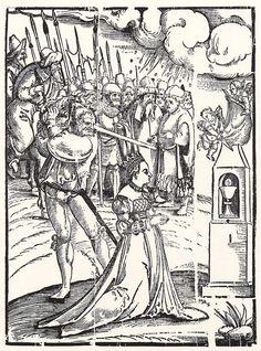 Artist: Schoen, Erhard, Title: Marter der Hl. Barbara, Date: ca. 1525