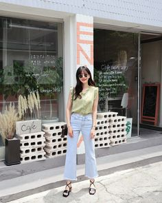 #Dahong(MT) style2017 #summerlook #Soyeon Look Street Style, Casual Street Style, Tank Top Outfits, Dress Outfits, Dresses, Daily Fashion, Fashion Women, Women's Fashion, Soyeon