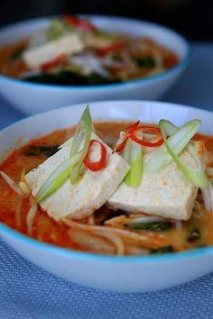 Tofu and vegetable laksa