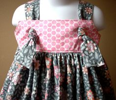 Girls dress knot dress  knotted dress custom designer by LocalLucy, $35.00