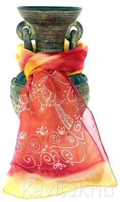 Parrot Print Silk Scarf Handpainted Silk Scarf. by KavitaKriti, $45.00  https://www.etsy.com/listing/158964563/parrot-print-silk-scarf-handpainted-silk?ref=shop_home_active