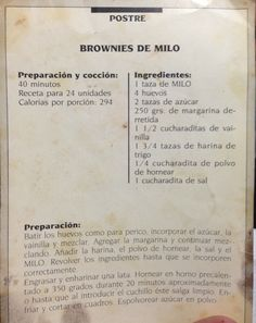 Brownies de Milo.