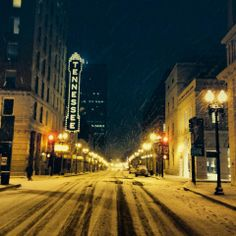 Beautiful shot from Knoxville.com during the 1/28/14 snow in Knoxville.