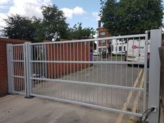 Security gates solution by RSG Security - including sliding gates for car-parks, palisade gates for schools, residential, commercial and industrial entry & access gates. Security Gates, Wimbledon, Car Parking, Outdoor Structures, House, Safety Gates, Home, Homes, Houses