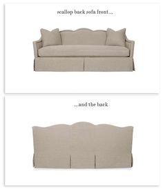scallop back sofa