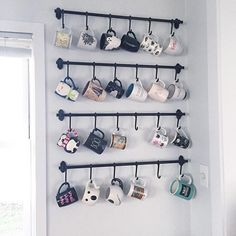 Coffee Mug Wall Rack Hooks Storage