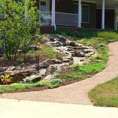 Lighted Natural Pondless Waterfall www