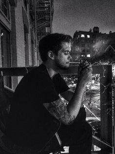 Jack and coke smokin on the fire escape.