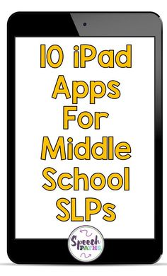 10 iPad apps your middle school students will love to use in speech therapy! Target language and social skills with engaging visuals and fun context. Speech Therapy Activities, Speech Language Pathology, Speech And Language, Communication Activities, Therapy Games, Articulation Activities, Listening Activities, Active Listening, Listening Skills