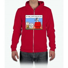 Flying Ace's Farewell Charlie Brown California Fleece Zip Hoodie