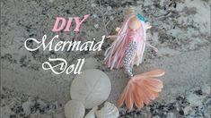 Mermaid Fairy, Mermaid Dolls, Fairy Crafts, Dyi Crafts, Paper Crafts, Knitting Loom Dolls, Handmade Angels, Handmade Dolls, Flower Fairies