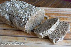 Grain Free Nut Free Sunflower Bread {Sugar & Gluten Free} | Sugar-Free Mom