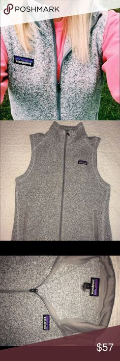 PATAGONIA BETTER SWEATER VEST😊 Super cute size small vest! Only thing is my name is written in the tag on the lower inside of the best and there is a small opening in the pocket from my keys (can be sewed up very easily) otherwise almost new, really great condition. Patagonia Jackets & Coats Vests
