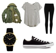 """""""♡♡♡¤"""" by katelynsearle on Polyvore featuring H&M, Max Studio, Converse and Larsson & Jennings"""