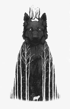 Time for yet another gallery with great illustrations and modern art from all corners of the world. Mixed illustrations, drawings & paintings that in some way Art And Illustration, Animal Illustrations, Watercolor Illustration, Watercolour, King Art, Art Design, Graphic Design, Art Plastique, Dark Art
