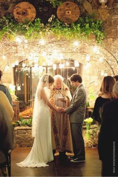 Candlelit Mason Jar Wedding Arbor...I would die to have a moment this breathtaking!