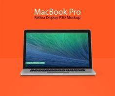 Macbook Pro Retina Display PSD Mockup - Freebies