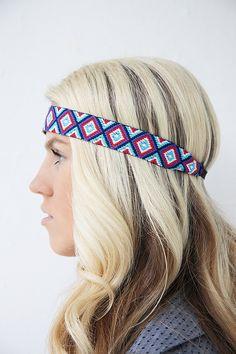 Friendship Bracelet Inspired Bohemian Tribal Summer Headband