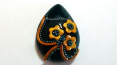 #cabochon 25x18 #handmade #polymerclay  #fimo http://youtu.be/zYHLHyxaQVw