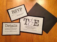 Fabric and Burlap Wedding Invitations