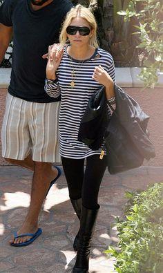 15 Ways To Wear Black Knee-High Boots Like Ashley Olsen