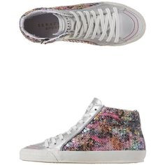 Serafini - Caracas Hi Tops ($73) ❤ liked on Polyvore featuring shoes, sneakers, hawaii multicolor, multi color shoes, zip shoes, serafini sneakers, multi colored sneakers and zipper sneakers