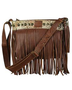 STS Ranchwear Lila Saddle Brown with Fringe Crossbody. Drysdales Western  Wear 2095e3288ed65