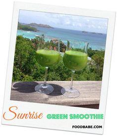 Sunrise Green Smoothie – One Of My Favorite Smoothies Ever! #bestsmoothe #vegasmoothie