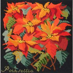 Poinsettia #needlepoint kit from our Botanical Garden series.