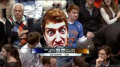 He blew up a picture of himself and distracts players at the free-throw line.