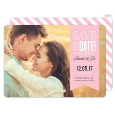 Blush Endearing Love Photo Save the Date Cards