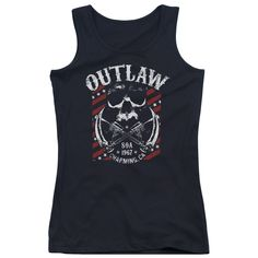 """Checkout our #LicensedGear products FREE SHIPPING + 10% OFF Coupon Code """"Official"""" Sons Of Anarchy / Outlaw - Juniors Tank Top - Sons Of Anarchy / Outlaw - Juniors Tank Top - Price: $29.99. Buy now at https://officiallylicensedgear.com/sons-of-anarchy-outlaw-juniors-tank-top"""