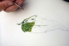 Lizzie Harper botanical illustration workshop at Treberfydd Walled garden Walled Garden, Painting Workshop, Painted Leaves, Botanical Illustration, Colored Pencils, Watercolors, Plant Leaves, Drawings, Design