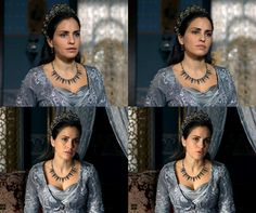 Gevherhan Sultan's silver embroidered dress, 2x05... - Magnificent Wardrobe